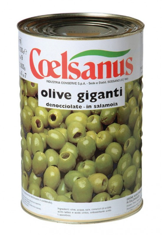 Pitted Giant Green Olives