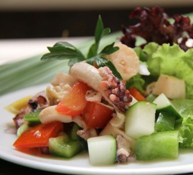 Octopus with mixed pickled vegetables