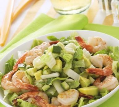 Salade de crevettes et d'artichauts