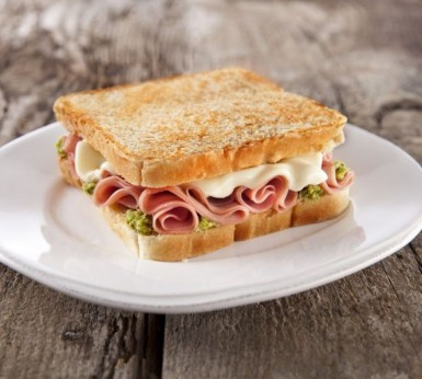 Toasted sandwich with Pesto or Toast Topping