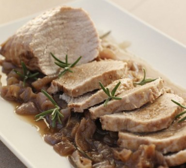 Veal roast with Borettane onions